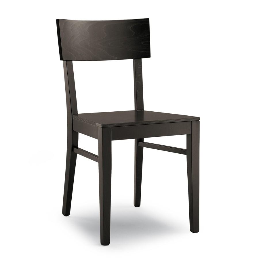 Sedia in legno finitura wenghè | Sedie in legno